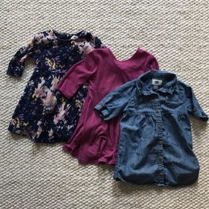 Lot of 3 Toddler Dresses